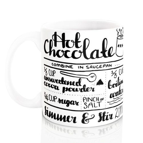 Hot Chocolate Recipe Mug. Hand lettering by summerandskye on Etsy