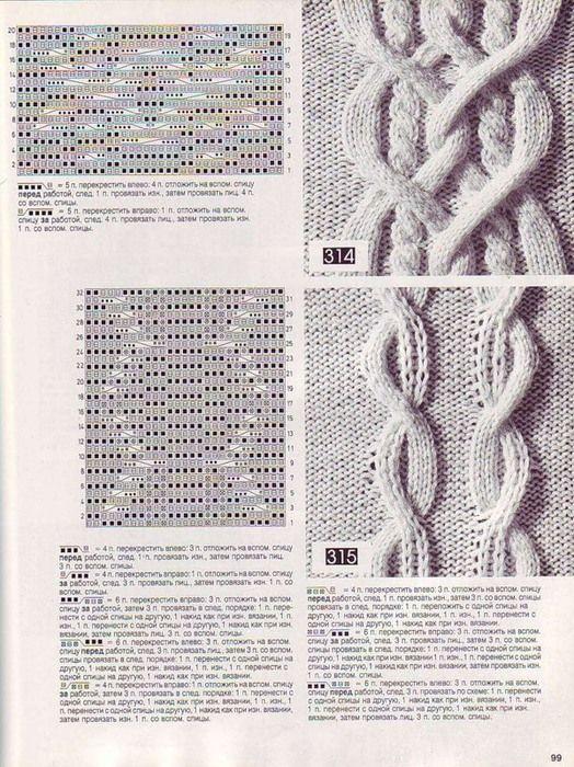 вязание спицами косы схемы