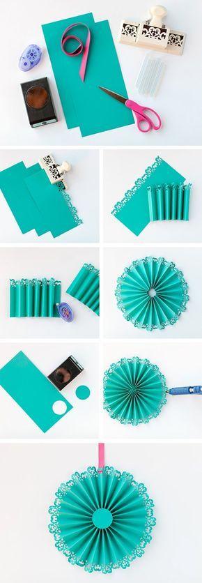 DIY de medallones de papel                                                                                                                                                                                 Más