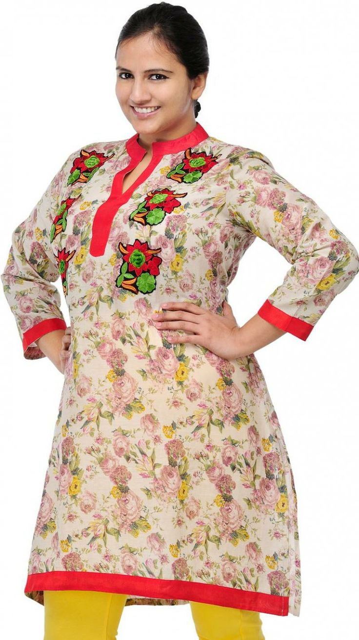 Ladies designer Embroidery kurti 3/4  Composition  100% COTTON  Washcare  NORMAL  Price: Rs.1500.00  Buy Here: http://pluss.in/product_view.php?itemid=1610&groupid=2&subcatid=109&catid=29