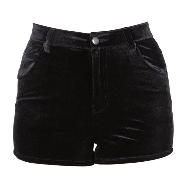 Evil Twin Night Crawlers Black ($70) ❤ liked on Polyvore featuring shorts, bottoms, pants, short, women, evil twin, evil twin shorts and short shorts