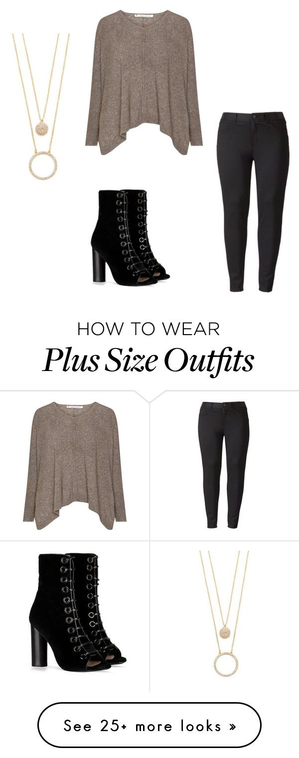 """ehh"" by jassyjae on Polyvore featuring Simply Vera, Barbara Bui, Kate Spade and plus size clothing"