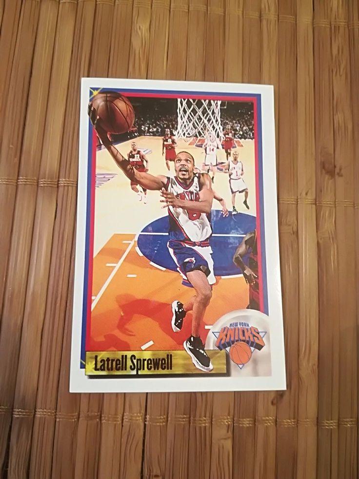 LATRELL SPREWELL rare sticker #28 Knicks Panini NBA Basketball 1999 2000 99 00   eBay