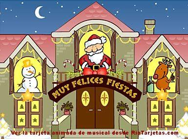 Muy Felices Fiestas http://www.riotarjetas.com/tarjetas_de_felicesfiestas.html Postales de Navidad con musica desde RioTarjetas.com