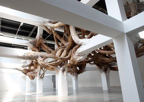 Baitogogo by Henrique Oliveira for Palais de Tokyo