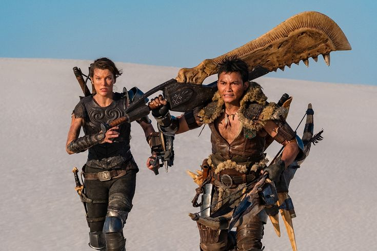 The First Monster Hunter Movie Teaser Sets Up An Enormous Battle In 2020 Monster Hunter Movie Milla Jovovich Monster Hunter
