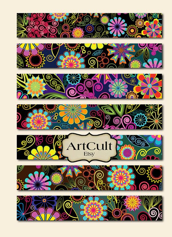 99 best collage images on pinterest paisley pattern pointillism printable 1x6 inch size images art strips no5 for bracelets cuffs bookmarks magnets fandeluxe Gallery