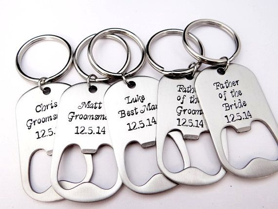 Personalized Bottle Opener Wedding Favors. Gift for Groomsmen, Best Man, Father of the Bride, Father of the Groom. Custom Wedding Favor.