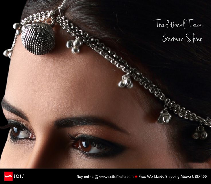 #soilofindia Traditional #Tiara German Silver Simple yet stunning, this raw design dates back 300 years and more. Few #artisans replicate this old design form...soon to be lost forever. http://soilofindia.com/traditional-tiara-german-silver.html#