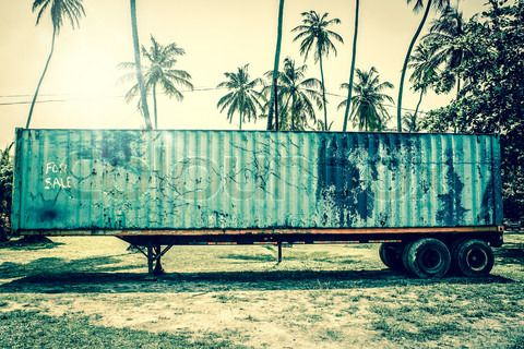 Stock image of 'Old grunge truck in tropical inviroment'