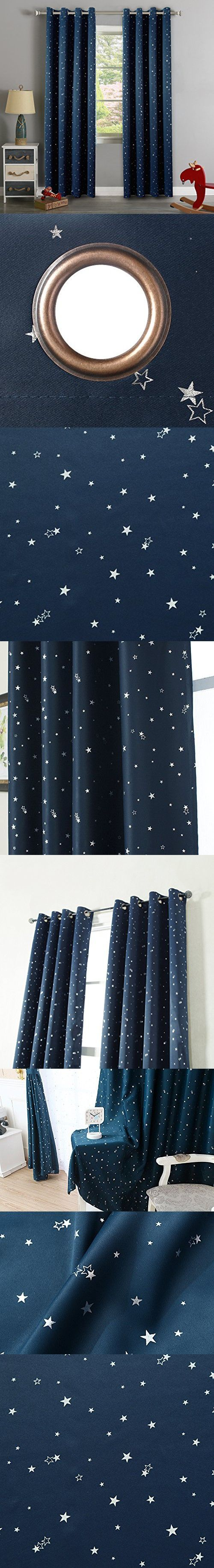 H.Versailtex Cute Star War Pattern Thermal Insulated Blackout Kids Room Curtains with Antique Grommet Top (1 panel),52 inch Width by 84 inch Length