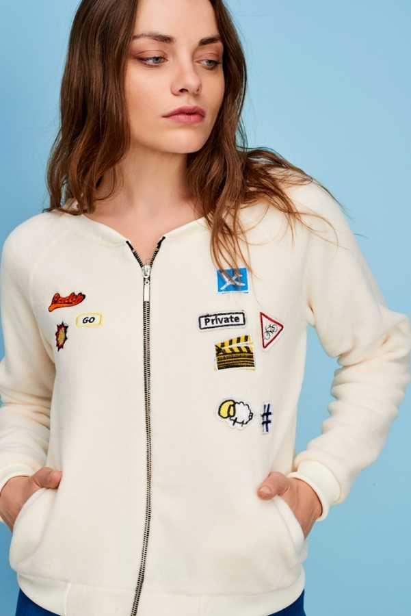 Armalı Ceket Beyaz cotenconcept.com 👈Hemen Al