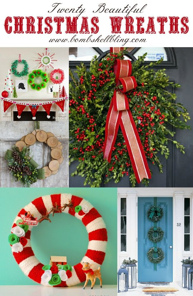 20 festive Christmas wreaths to brighten your home this holiday season!