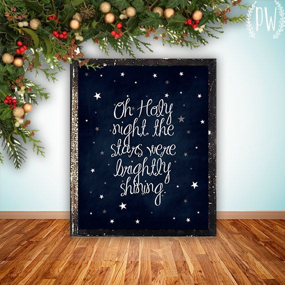 O Holy Night Home Decor Art -- write text with Cricut Explore