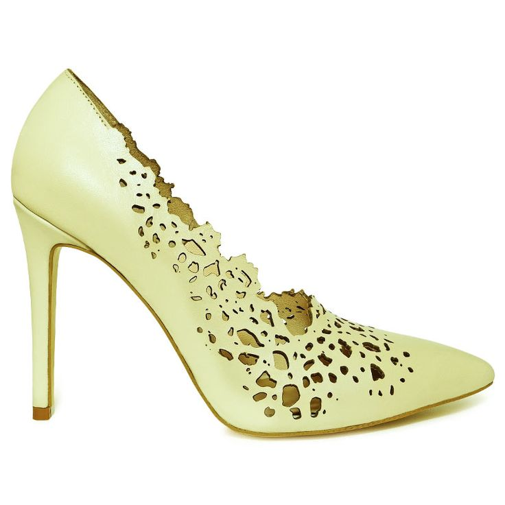 Rust inspiration high heel shoes. Made from natural leather and embellished with…
