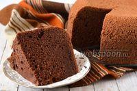 Фото Шоколадный шифоновый бисквит в мультиварке