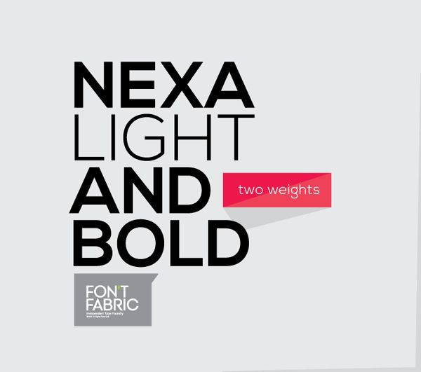 NEXA free font by Fontfabric , via Behance