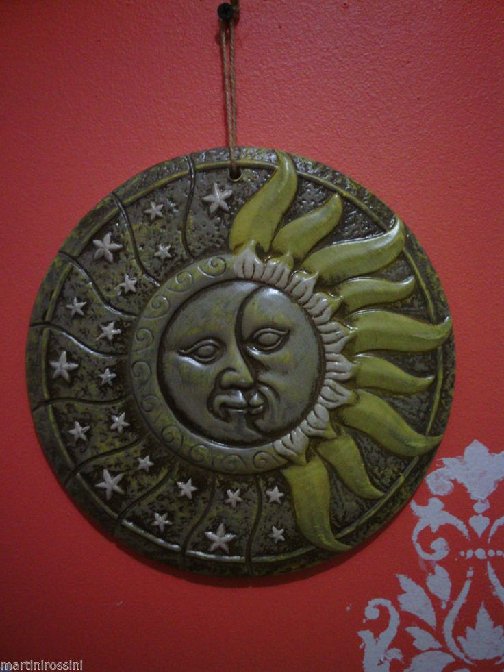 Ceramic Sun Moon Star Wall Decor Piece Unbranded Moroccan Decorative Pieces Pinterest