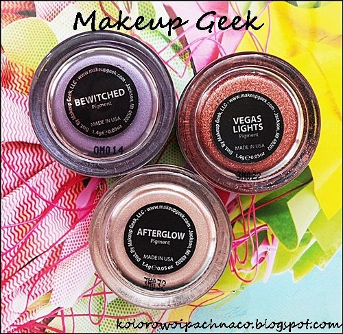 Makeup Geek - pigments: Vegas Lights, Bewitched, Afterglow