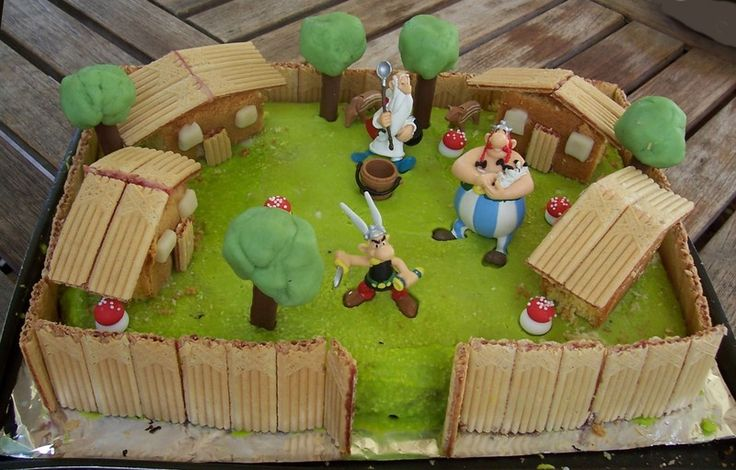 Decoration Gateau Asterix