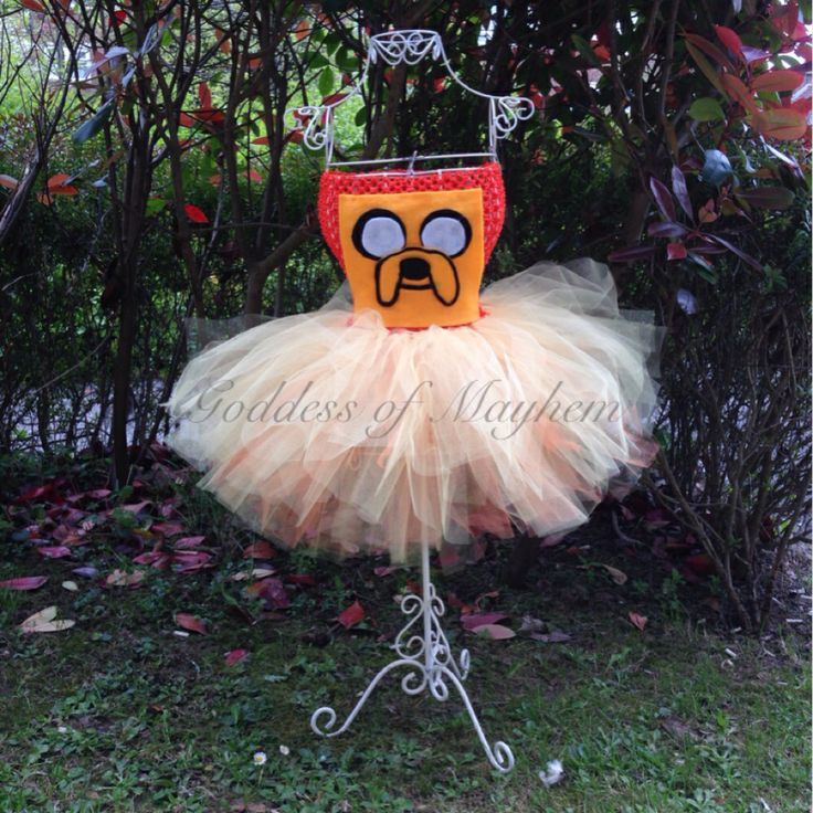 Jake the dog inspired adventure time tutu dress