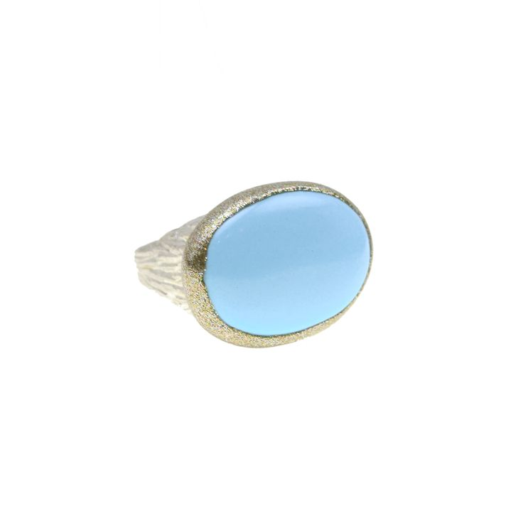 Ring made of sterling silver 925 with turquoise stone