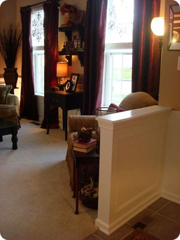 amusing living room half wall | Half wall to separate the living room from foyer. | Living ...