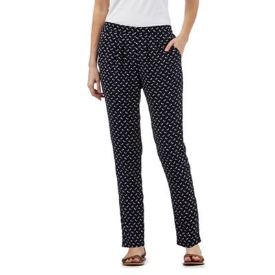 The Collection Navy printed trousers | Debenhams