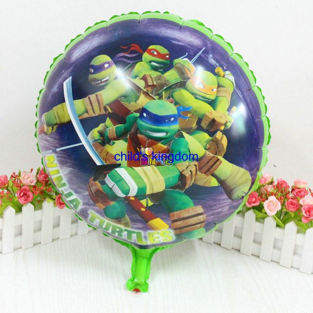 Nieuwe 5 stks/partij cartoon dier vormige Teenage Mutant Ninja Turtles folie ballonnen birthday kids speelgoed ballons