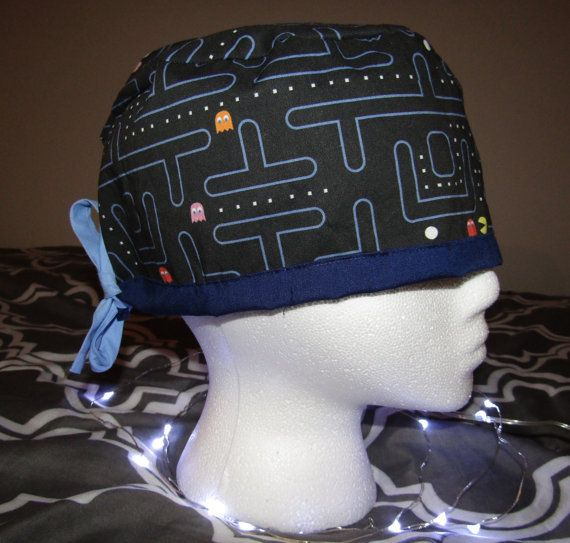 Video Games: Pacman  Unisex Scrub Caps by TheMadScrubCapper