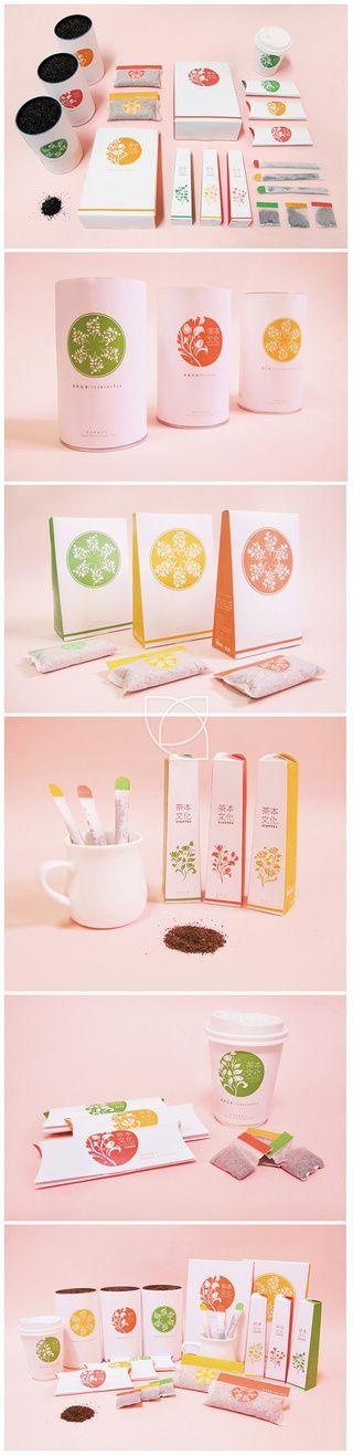 楊炳篁采集到原创画板 Very pretty assorted #tea products and #packaging PD