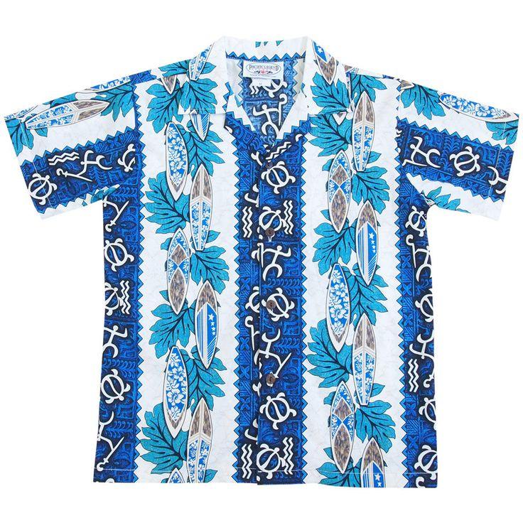 hieorglyph blue boy hawaiian shirt