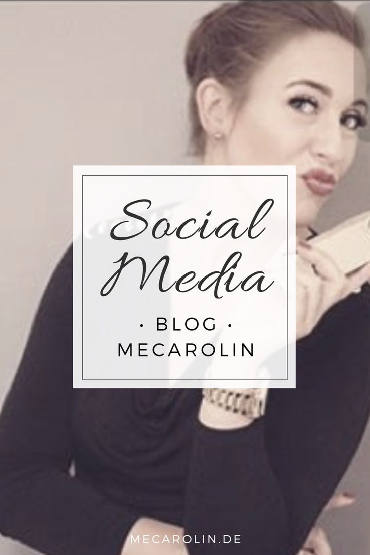 SOCIAL MEDIA • Blog • meCaroLin