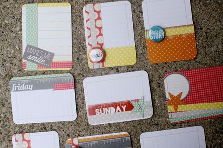 Add embellishments to cards for a cute look: Tags Journaling Cards, Life Inspiration, Life Ideas, Scrapbooking Ideas, Card Ideas, Cards Journal Scrapbooking, Project Life Cards
