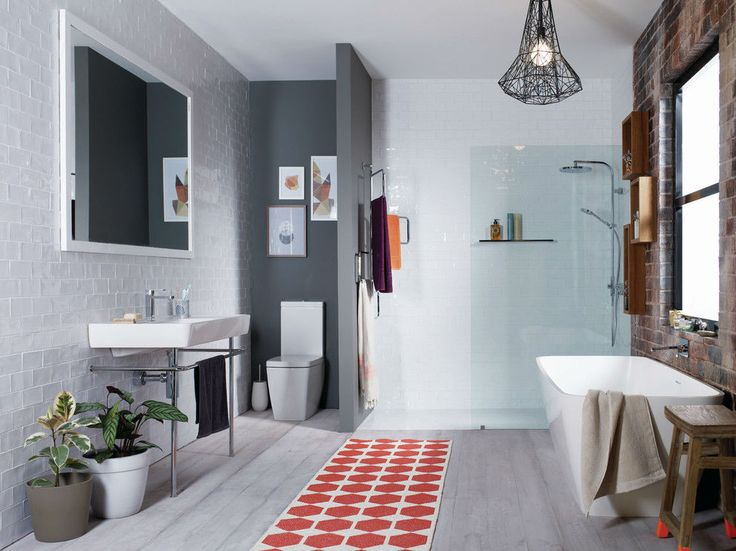 Scandinavian Bathrooms in Different Modern Styles