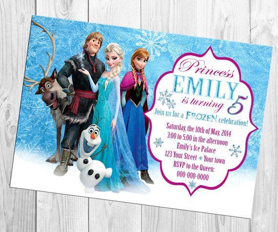 Disney Frozen Birthday Invitation by mommybrain2designs on Etsy, $8.99