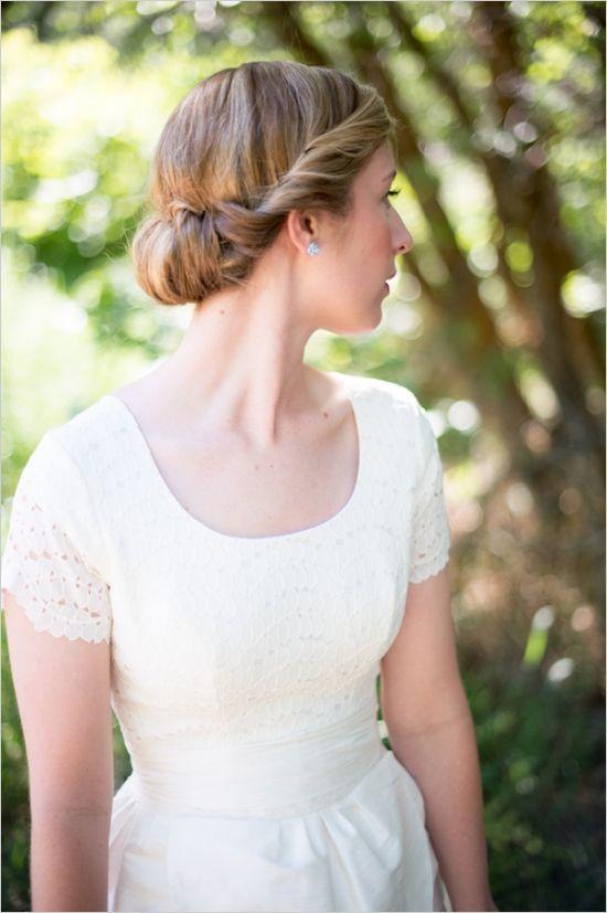 wedding hair styles #updo #classichair#weddingchicks http://www.weddingchicks.com/2013/12/19/festive-floral-wedding/