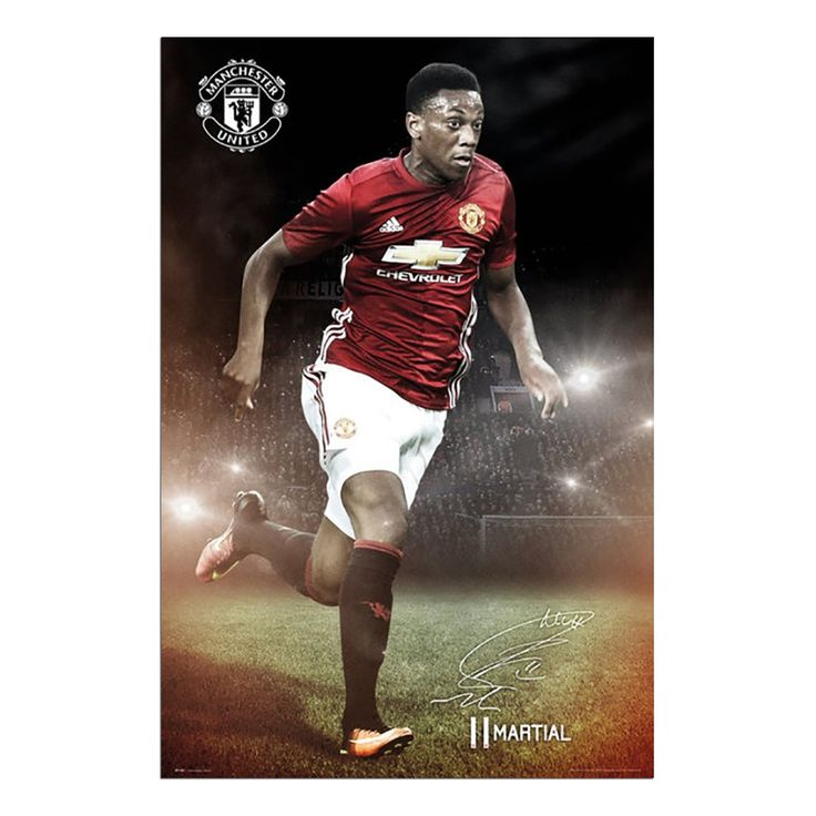 Anthony Martial Manchester United 2016 / 2017 Poster | iPosters