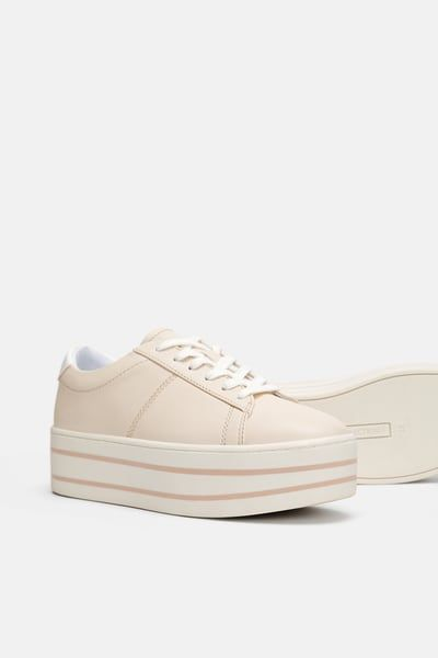 00939072b4 Image 1 of PLATFORM SNEAKERS from Zara | Fall...in love in 2019 ...