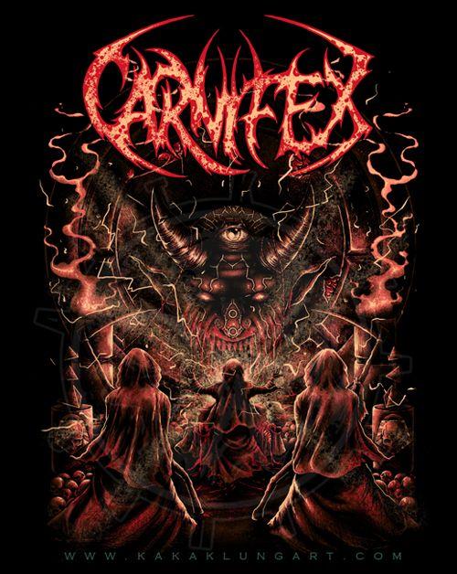 kakaklungart, design, carnifex, ritual, reaper, band, metal, death metal…