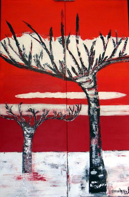 Kom binnen in de Kunstgalerie van Marl.Decoratieve schilderijen: 15-204 Trees