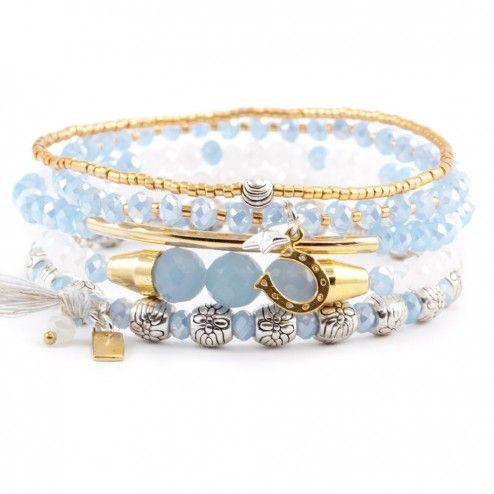 Chan Luu Periwinkle Mix Bracelet Set