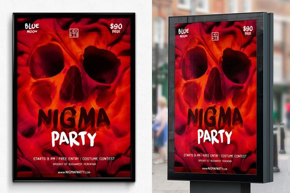Skull Nigma Halloween Party by SNK's on Creative Market