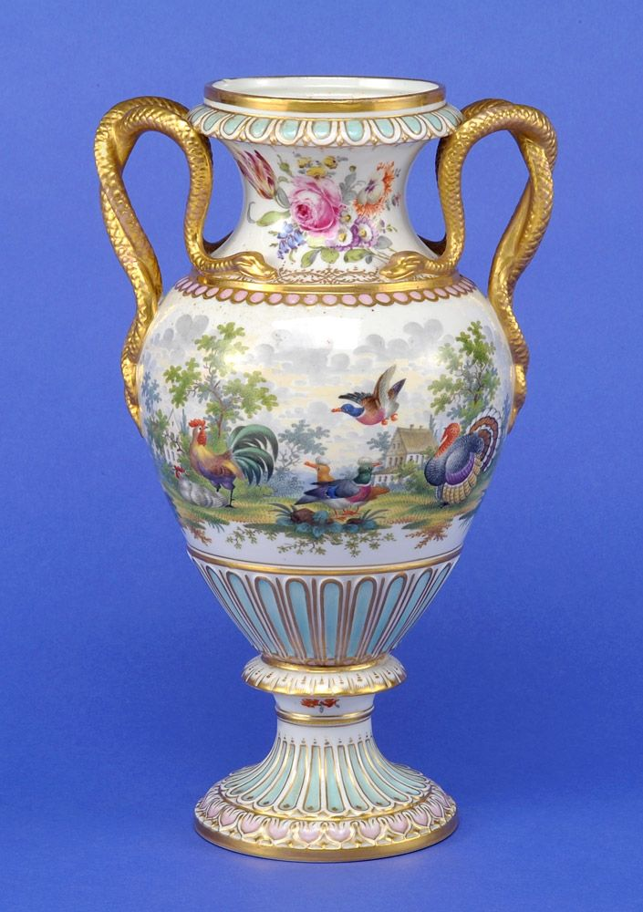 online shopping clothing free shipping worldwide Meissen Porcelain Manufactory Germany   Snake Handles Vase H  cm  th century