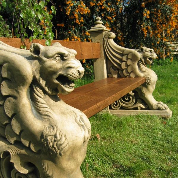 Large Antique Style Recon Stone Garden Bench as seen in Harry Potter such a beautiful piece and would make a beautiful feature inside or out! £2650 UK & Worldwide Delivery Available