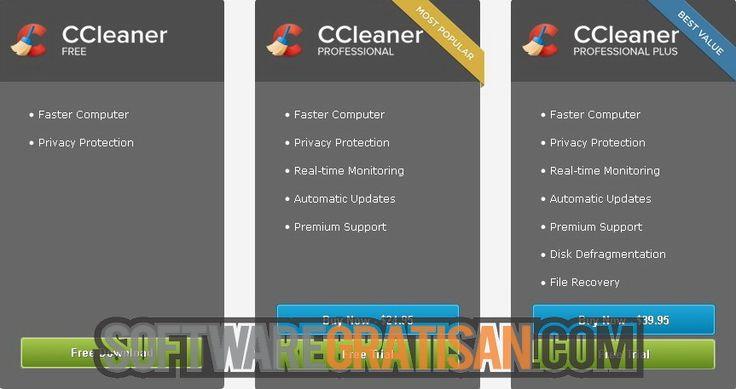 Perbedaan fitur pada semkua versi CCleaner: http://softwaregratisan.com/download-piriform-ccleaner-4-18-4844-professional-business-full-crack.html