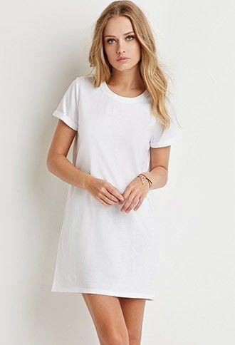 Cotton T-Shirt Dress | Forever 21 - 2000157536