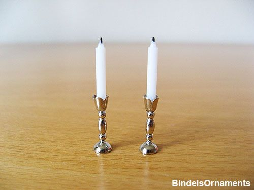 Silver Candlesticks - BindelsOrnaments has DIY and also sells kit