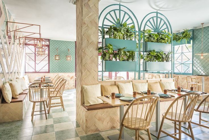 Spanish design studio Masquespacio has completed the interior of Pizzeria Albabel in Picaña, a small town not too far from Valencia.