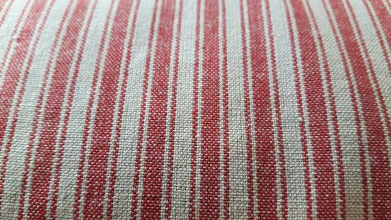 Beautiful 100% cotton french fabric!! Really good for many projects..it is sturdy (old scool) quality! Price is per yard.
